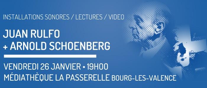 Installations, lectures autour de Rulfo et Schoenberg à La Passerelle (26)