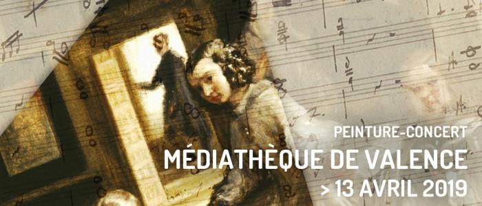 Peinture-concert à la Médiathèque de Valence — 13 avril 2019